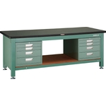 Heavy Work Bench with 3 Face Panel / 4-Shelf Cabinet Average Load (kg) 3000