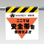 Single action installation sign single action installation sign (triangle with fluorescent printing)