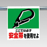 "Single action installation sign picture type ""Wear your Seat Belt"", ""Authorized Personnel Only"""