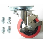 Lift table swivel wheel