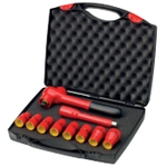 3/8 Inch Insulated Socket and Ratchet 10-Point Set