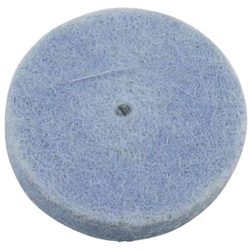 Felt Wheel with Shaft (Impregnated) Flat Type Replaceable
