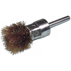 Steel Wire Plated Thistle Type Brush with Shaft