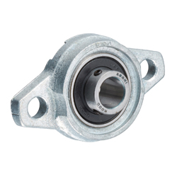 Rhombus Flange Unit, Silver Series, Cylindrical Hole Shape with Set Screw, KFL
