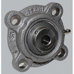 Round Flange Unit with Spigot Joint, Cylindrical Hole Shape with Set Screw, MUCFC Type