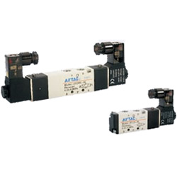 Electromagnetic valve, 4V100 series, 5 ports, 2 positions/5 ports, 3 positions