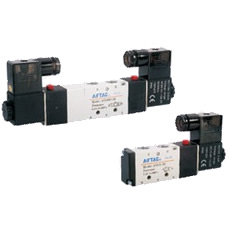 [In-stock item] Solenoid Valve 4V200 Series, 5 Ports 2 Positions, 5 Ports 3 Positions