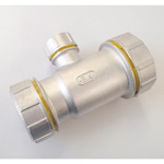 Tube Expansion Fitting for Stainless Steel Pipes, BK Joint, 3-Way Reducing Tee
