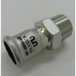 Press Molco Joint Socket Type 1 with Male Adapter, for Stainless Steel Pipes