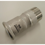Press Molco Joint Socket Type 2 with Male Adapter, for Stainless Steel Pipes