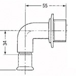 Fitting for Copper Piping Used in Building Piping, CU Press, Water Faucet Elbow with Feed Seat