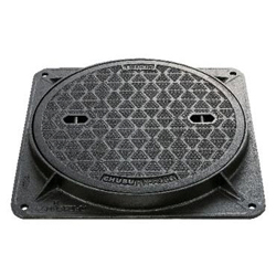 HN-2P High-Grip Manhole Cover [Easy-Seal / for Light Loads / with Chain]