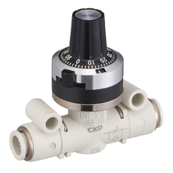 Needle Valve with Adjusting Dial, Check Valve Type DVL-S Series.
