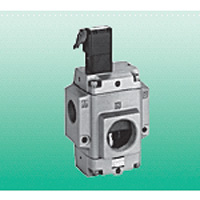 Air operation type 3 port connection valve Electromagnetic valve installation state NVP11 Series