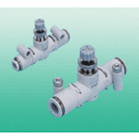 Needle Valve Line Type with One-Touch Fittings SCL2-N-Series