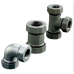 CKMA Tee Joint with Reducer Three way Nut