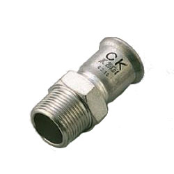 Press Fitting for Stainless Steel Pipes SUS Press Male Adapter Socket