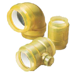 Pre-Seal HB Gold Underground Type (Exterior Transparent Coating for Fire Extinguishing Pipes) Reducer Tee