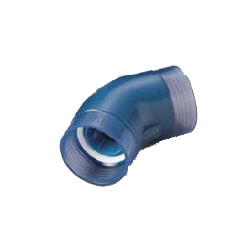 Pre-Sealed Transparent PC Core Fitting, Normal Type Lining Pipe Connection TPC Series 45° Elbow