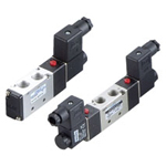 Electromagnetic valve, VLEV500 series, 5 ports, 2 positions
