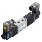 Electromagnetic valve, VLEV500 series, 5 ports, 3 positions