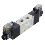 Electromagnetic valve, VLEV900 series, 5 ports, 3 positions