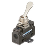 Hand-operated Valve VLM15 Series - Touch Type (Horizontal Piping/Flanged-base Type)
