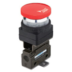 Hand-operated Valve VLM15 Series - Interlock Button Type (Horizontal Piping/Flanged-base Type)