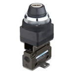Hand-operated Valve VLM15 Series - Key Switch Type (Horizontal Piping/Flanged-base Type)