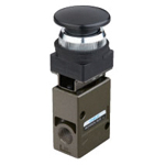 Manual valve VLM20 series large round button type