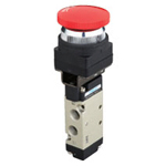 Manual valve VLM23 series interlock button type