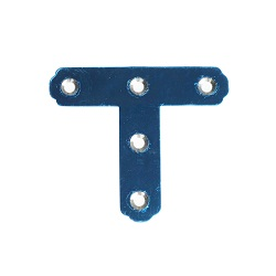 Reinforcement Fitting, Stainless Steel, T Shape (2 Included), with Screws