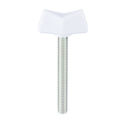 Nylon Butterfly Bolt, No. 2, White