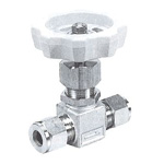 for Stainless Steel, SUS316 VUP NEEDLE STOP VALVE, Union Type