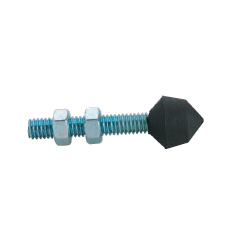 Metal Head for Clamps, Pointed Rubber Type GH-CC