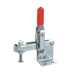 U-Shaped Arm Toggle Clamps, Vertical Handle, with Flanged Base, GH-11421/GH11421-SS
