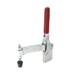 Angular Solid Arm Toggle Clamp, Vertical Handle, with Straight Base, GH-12320