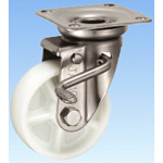 Stainless Steel Caster Swivel (with Double Stopper) JAB Type Size 100 mm