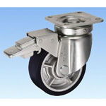 Caster for Heavy Loads - Swivel (with Rotation Stopper) JHB Type, Size 150 mm