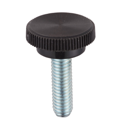 Thumb Screw, Round, Black