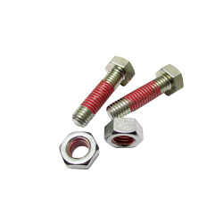 "Hex Bolts LOCTITE ""Precoat"" 204 (SUS) with 10 mm Coating From The Tip"