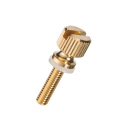 Brass Knurled Knob (Slotted and Flanged / Built-In Washer) / NB-BG-N