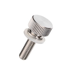 Brass Knurled Knob (Flanged / Built-In Washer) / NB-C-N
