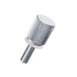 Brass Knurled Knob (Stepped / Built-In Washer) / NB-DC-N