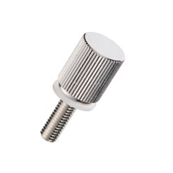 Brass Knurled Knob (Stepped / Built-In Washer) / NB-D-N