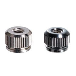 Brass Knurled Nut (Flanged / Fully-Threaded Through Hole) NBNT/B/C