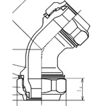 Mechanical Fitting 45 Degree Elbow for Stainless Steel Piping