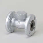 Malleable Valve, 20K Type, Check Valve (Lift Type) Flanged Type, equipped with PTFE Disc