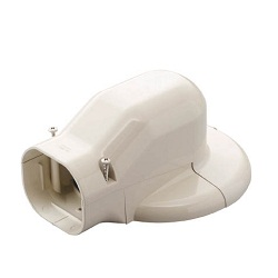"Materials for Air Conditioners, ""SLIMDUCT LD Series"", Wall Inlet Elbow for Air Conditioner Caps"
