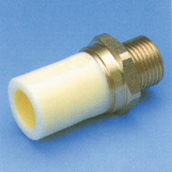 JFE Polybutene Tube, H-Type Fitting (Heat Fusion Type) Thread-attached Socket (Integrated)